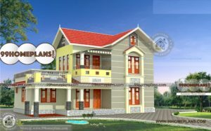 Scandinavian Home Design with Double Story House Plan 3D Elevations