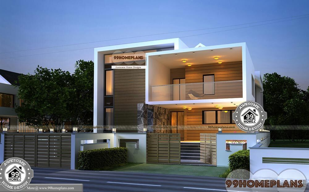 Small urban house plans double floor new style modern home for Small urban house plans