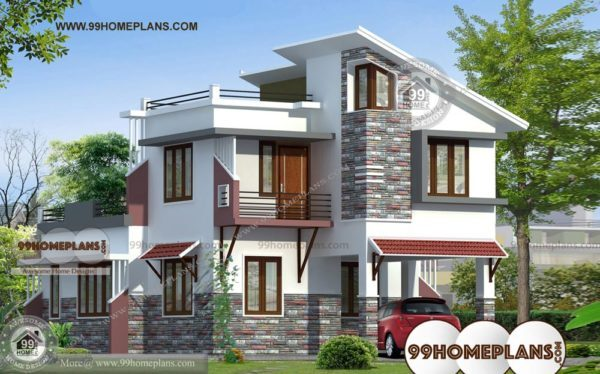 south indian house front elevation designs and plans of 2 story homes 600x374