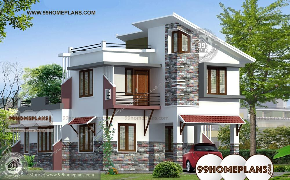 Ground Floor Elevation With Staircase : South indian house front elevation designs and plans of