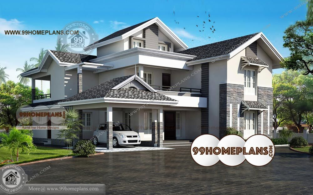 South indian house models with latest nadumuttam style for South indian model house plan