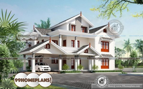 South indian house plans with photos with 3d elevations for South indian model house plan