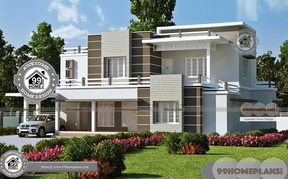 Two Storey House Design Floor Plan Elevation Through Online