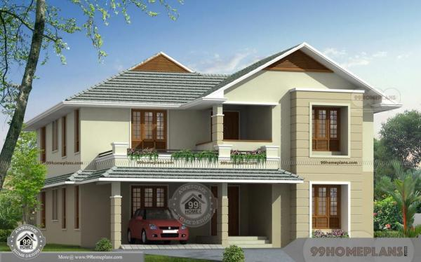 Unique Bungalow House Plans With Two Story Kerala Style Veedu Layouts