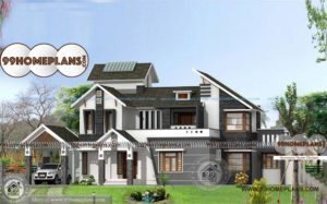 Vastu Home Design Two Floor Luxurious Colonial Model House Collections
