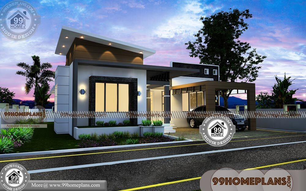 1 Floor House With Modular Flat Root Pattern Duplex Home