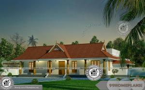 1 Story House Floor Plan with Traditional and Ethnic Model Home Designs