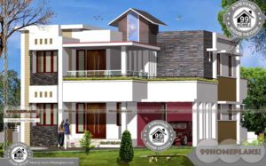 2 Floor Building Design and Wide Space Balcony Home Plan Collections