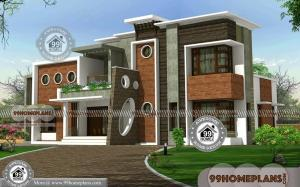 2 Floor Home Design with High Quality Low Budget Latest House Plans