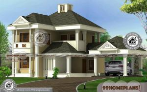 2 Floor Modern House Design with Bungalow Style Traditional Large Home