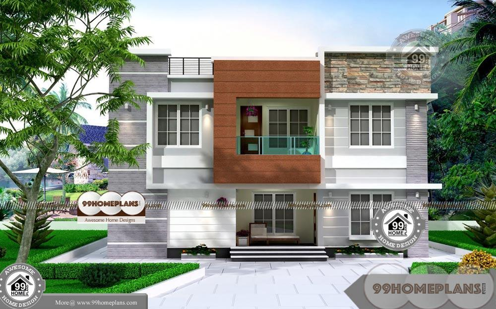 2 storey house design with floor plan with cheap rate for Cheap double story homes