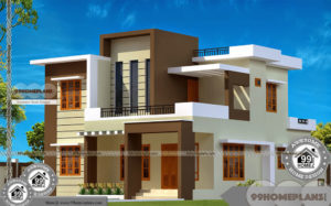 2 Storey House Designs With Balcony, Cute Architecture Plan Collections