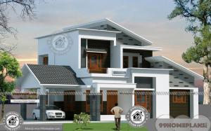 2 Story 3 Bedroom House Plans with Simple & Elegant New Arch Patterns