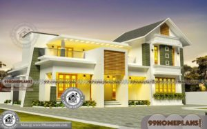 2 Story Cottage Style House Plans with Traditional & Contemporary Design