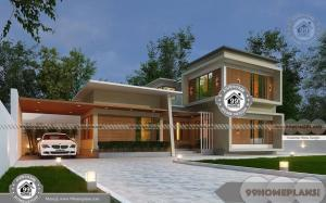 2 Story Luxury House Plans with Flat Terrace Type New Design Floor Plan