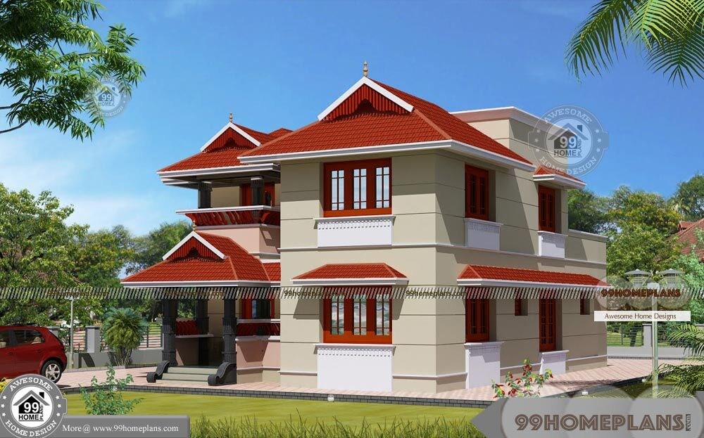 2 story traditional house plans with very modern mixing for Traditional 2 story house