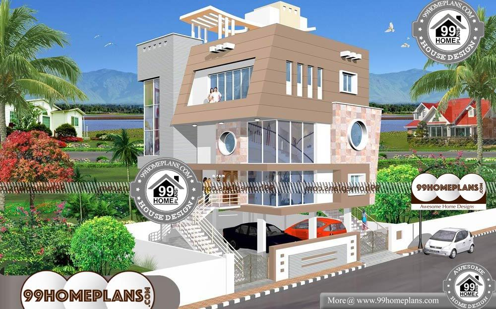 3 Floor House Design - 3 Story 2325 sqft-Home