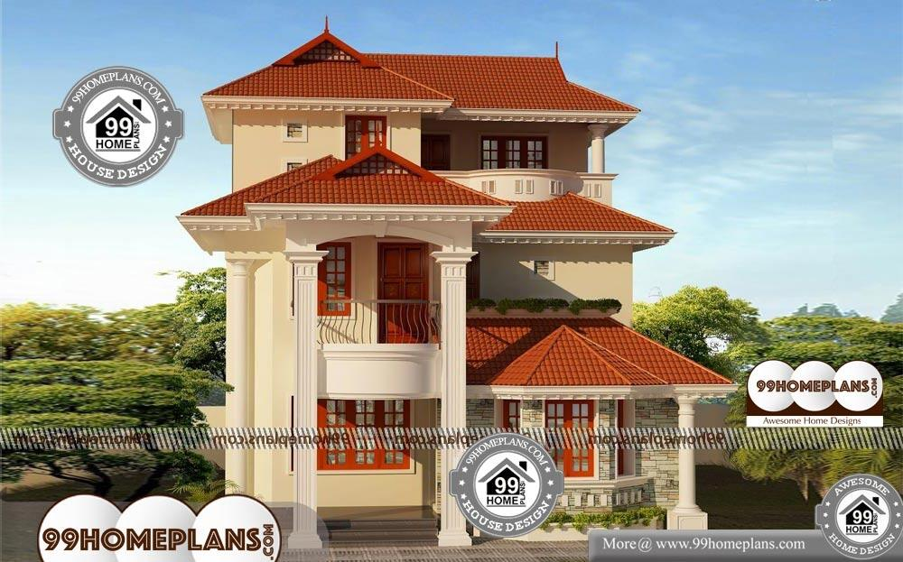 3 Story Modern House Plans - 3 Story 2377 sqft-Home