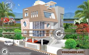 3 Floor House Design with Contemporary Modern New Style Home Plans