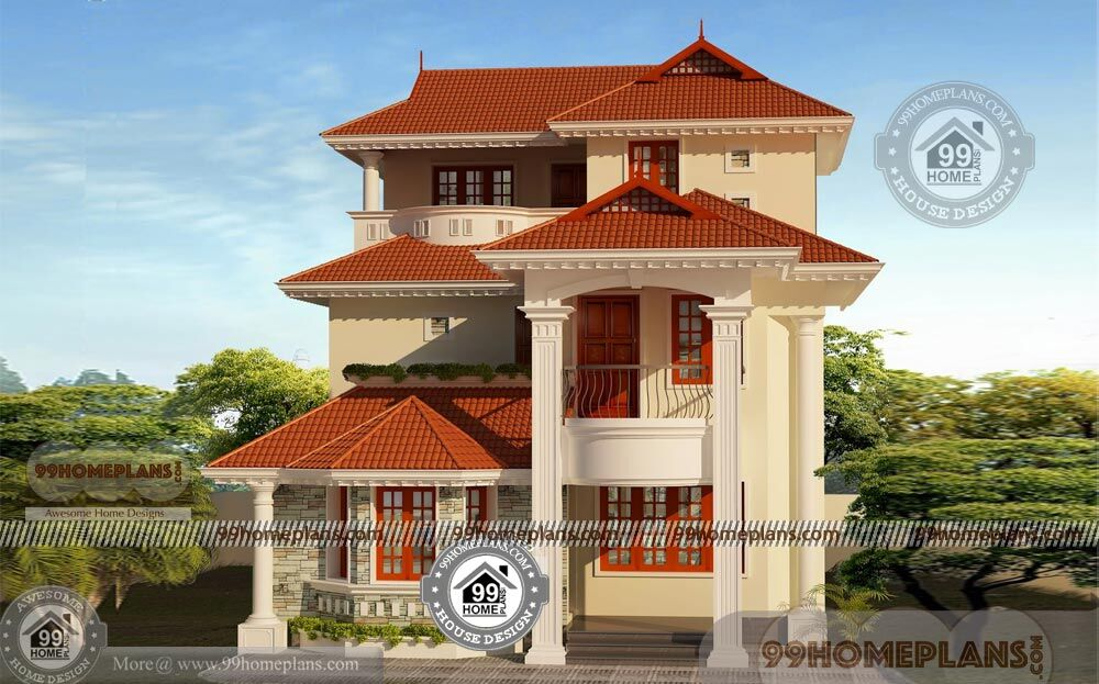 outstanding latest house designs. Budget of this house is 40 Lakhs  3 Story Modern House Plans with Traditional Outstanding Model Homes
