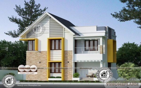 35 X 40 House Plans With Latest Low Cost Flat Type Simple: 35 Foot Wide House Plans With Trendy And Stylish Standard