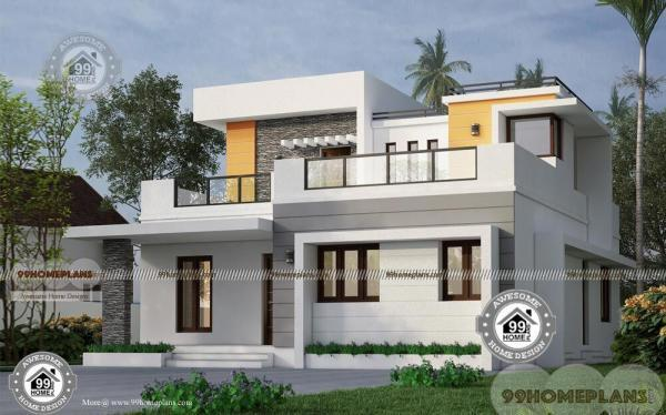 35 x 40 house plans with latest low cost flat type simple home design 600x374