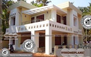 3d Bungalow House Plans with Double Story Square Flat Pattern Homes