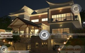 3d House Front Elevation Design with Two Floor Contemporary Home Plan