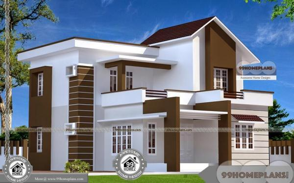 4 bedroom double storey house plans with cute contemporary designs