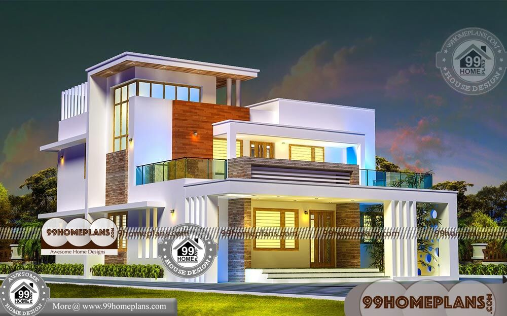 4 Bedroom House Design With Two Story Contemporary Flat