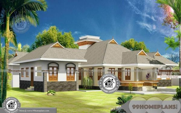 4 bedroom house plans one story with traditional style for Traditional house plans one story