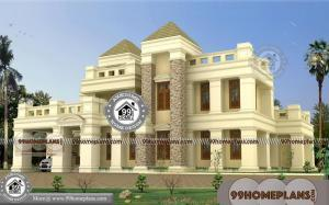 5 Bedroom Bungalow Floor Plans with Double Story Luxury Royal Homes
