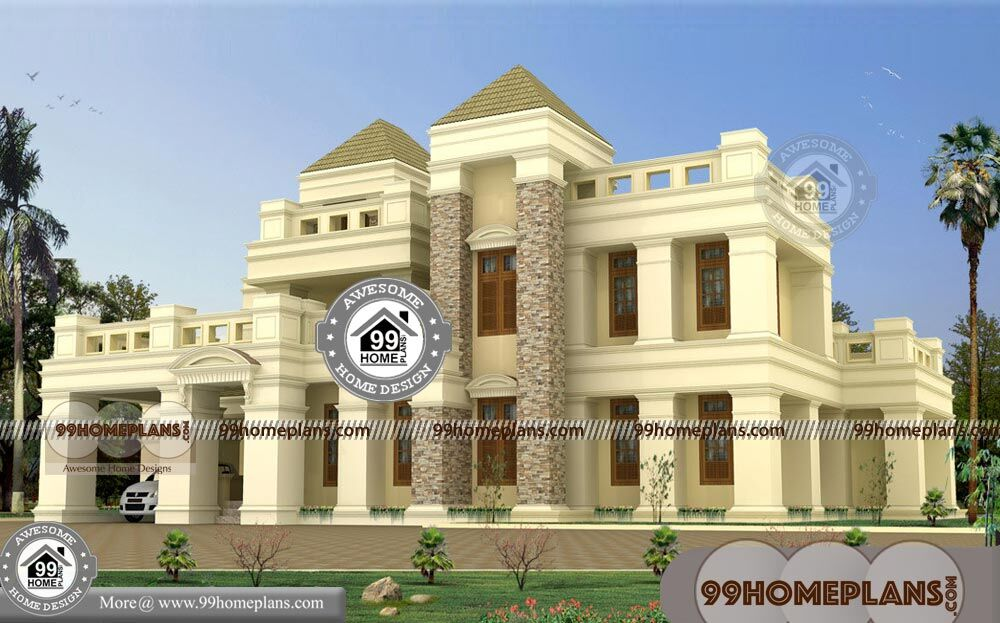 5 bedroom bungalow floor plans with double story luxury for Royal homes house plans