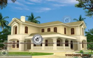 5 Bedroom Bungalow House Plan with 2 Story Low Cost Project Designs