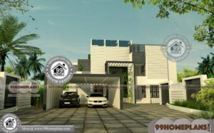 5 Bedroom Modern House Plans with Double Storied Awesome Collections