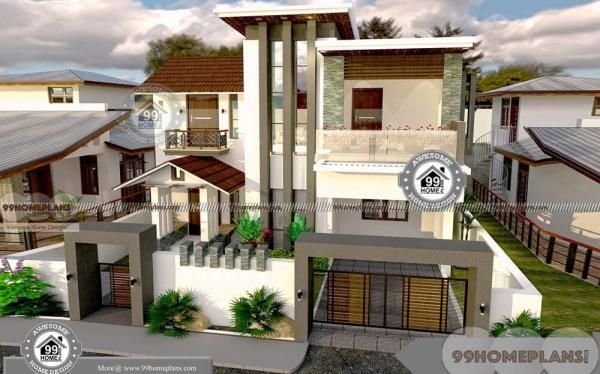 50 X 80 House Plans with Contemporary Modern Low Cost Home Designs
