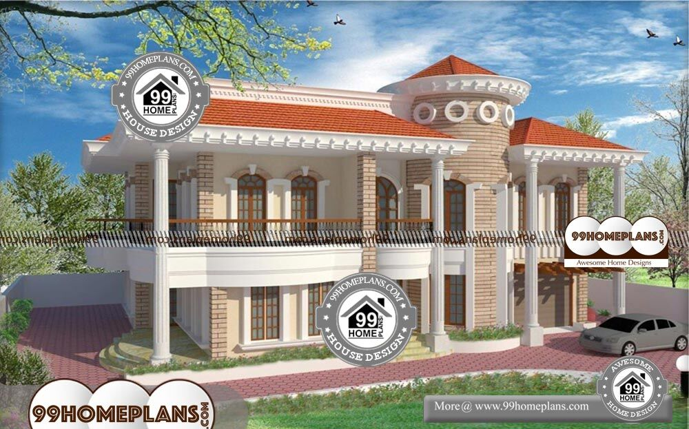 Affordable 5 bedroom house plans with new models of home for Cheap two story house plans