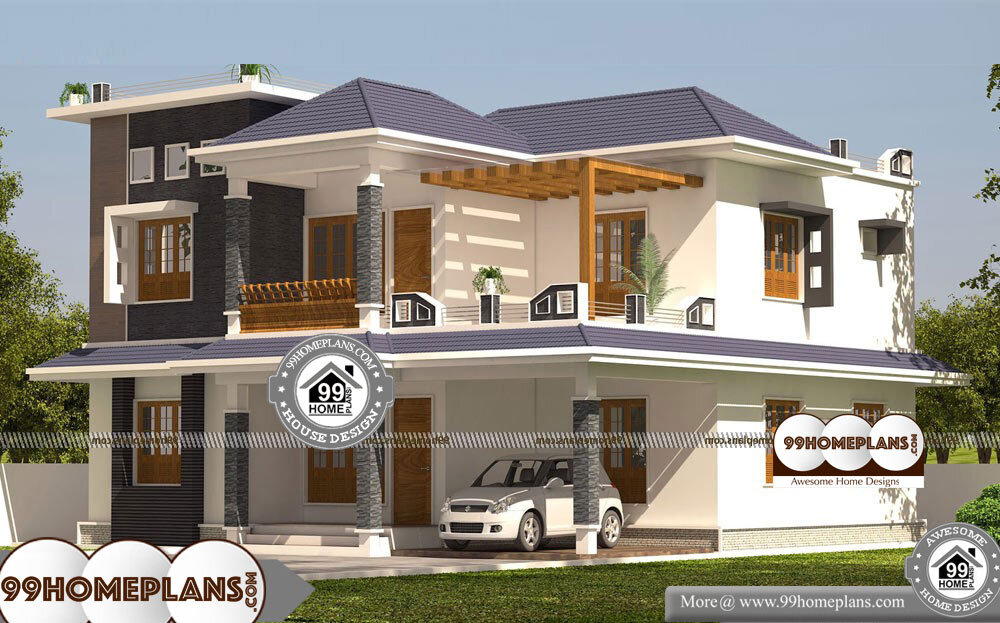 Architectural Design For Small House In India - 2 Story 3025 sqft-Home