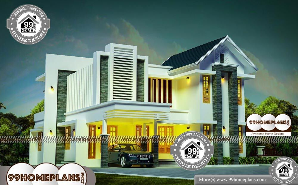Architectural Designs For 4 Bedroom Bungalow - 2 Story 2328 sqft-Home