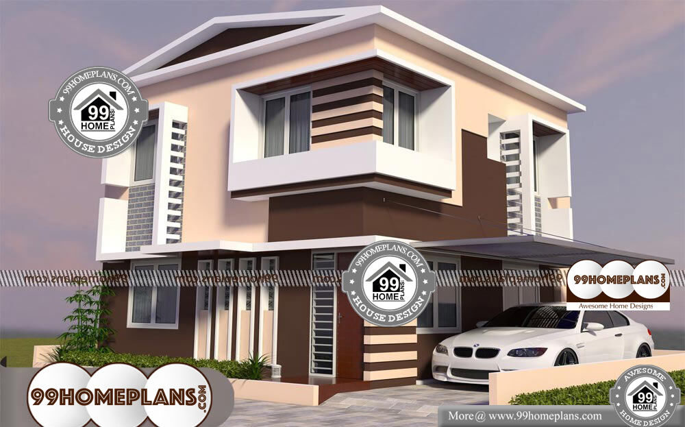 Beautiful Two Storey House Designs - 2 Story 960 sqft-Home