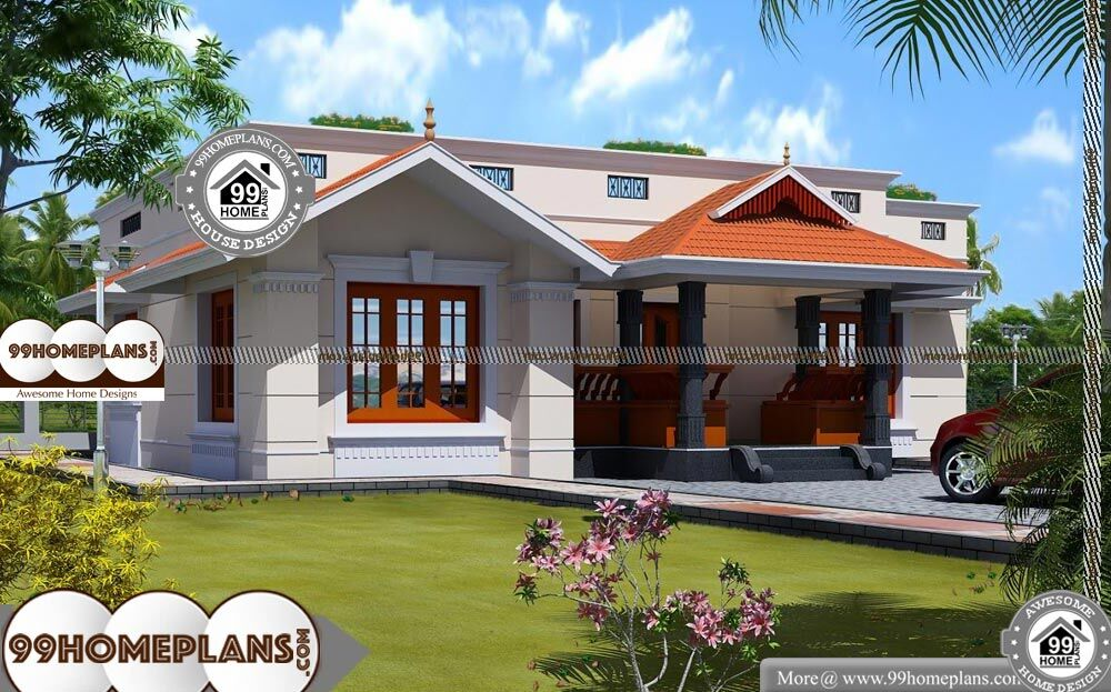 Classic Country House Plans - Single Story 1500 sqft-Home