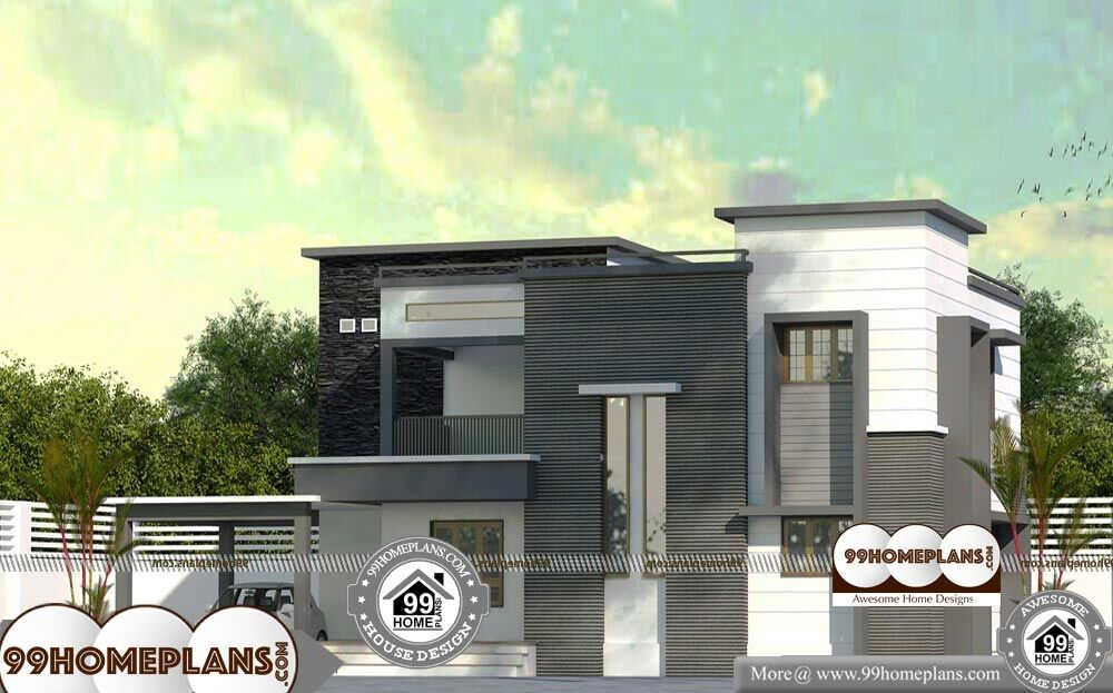 Contemporary House Plans Kerala - 2 Story 2570 sqft-Home