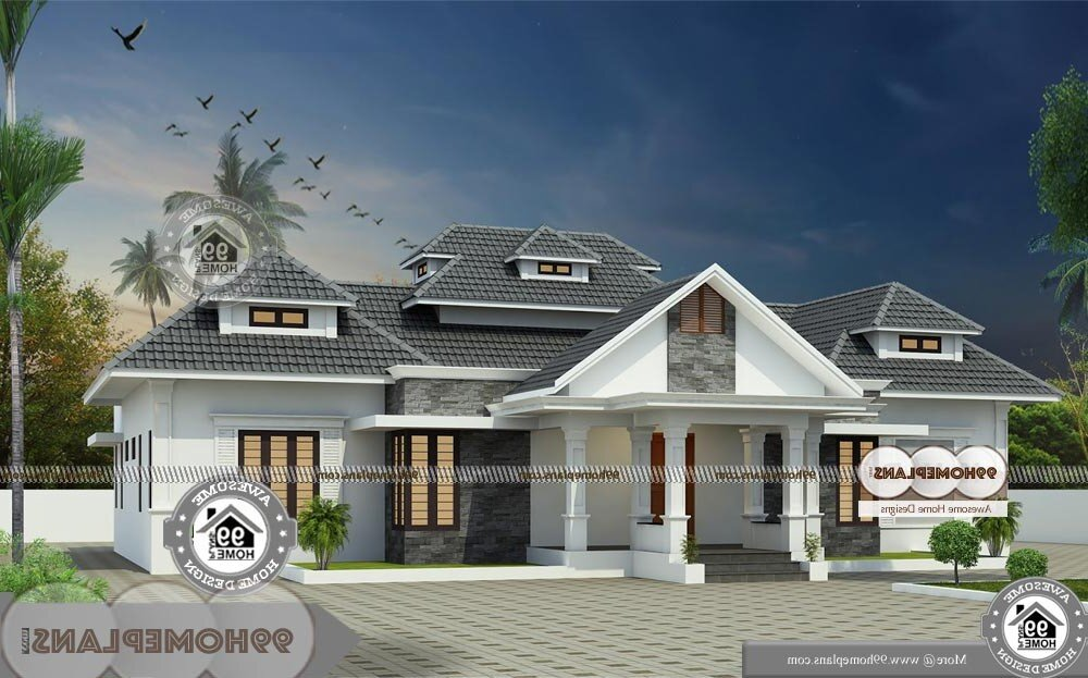 Country Style Ranch House Plans - Single Story 2900 sqft-Home