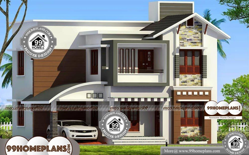 Double Storey House Plans With Balcony 2 Story 1568 sqft Home - 20+ House Plans Two Story With Balcony  Images