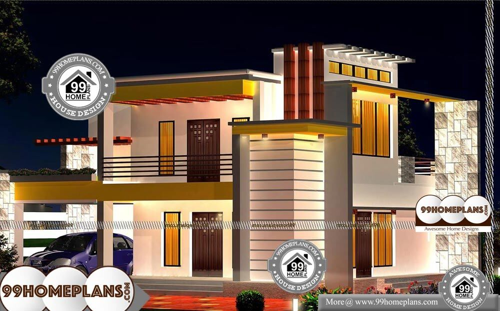 Double Storey Small House Plans - 2 Story 1700 sqft-Home