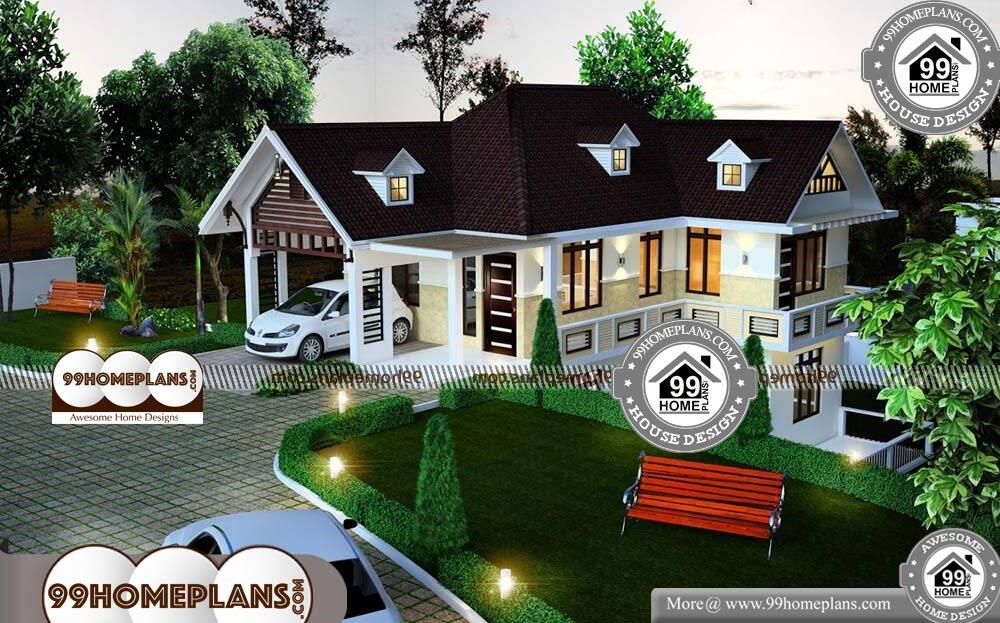 Floor Plans For Small Houses With 3 Bedrooms - 2 Story 2000 sqft-Home