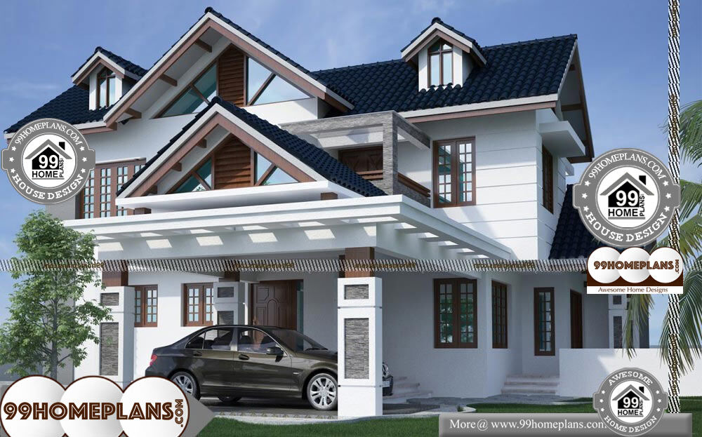 Front View Of Double Story House - 2 Story 3100 sqft-Home