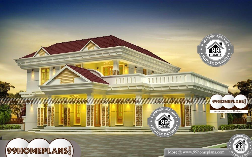 Indian Bungalow Design - 2 Story 2990 sqft-Home