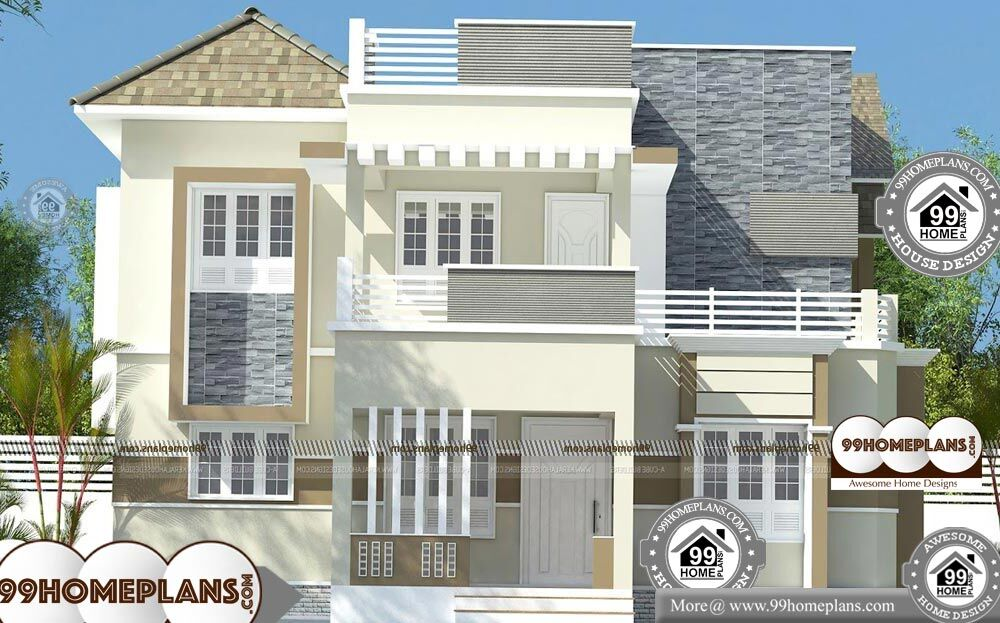 Indian House Front Elevation Photos For Single House - 2 Story 2106 sqft-Home