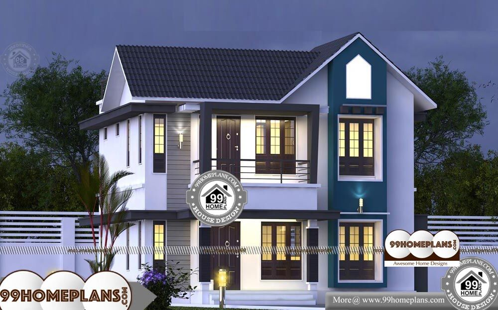 Kerala Contemporary House Plans And Elevations - 2 Story 1573 sqft-Home